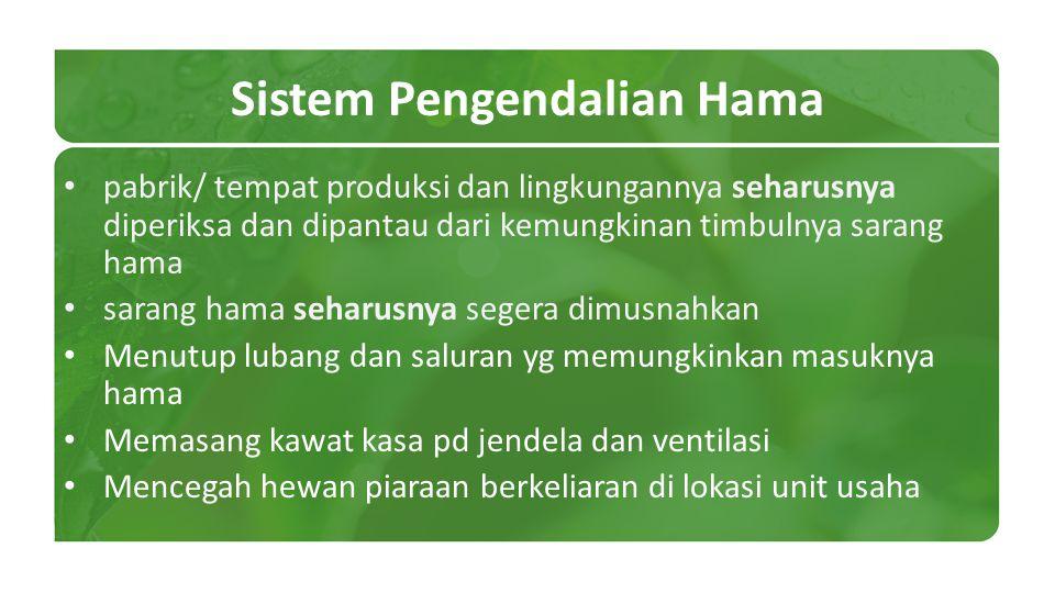 Sistem Pengendalian Hama