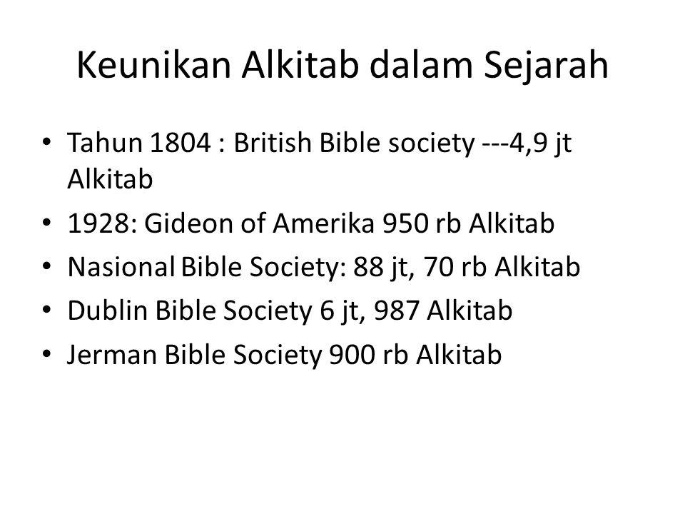 Keunikan Alkitab dalam Sejarah