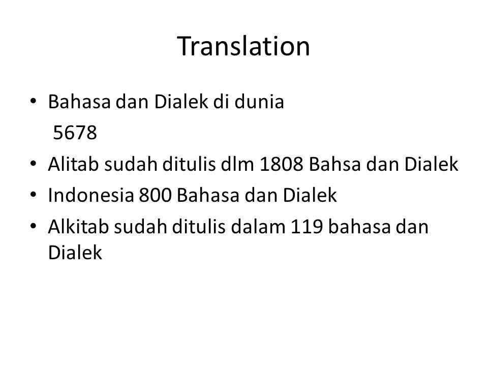 Translation Bahasa dan Dialek di dunia 5678