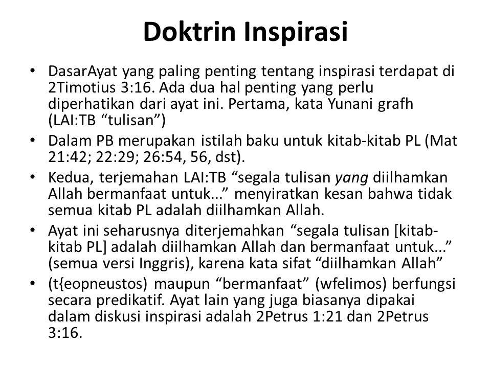 Doktrin Inspirasi