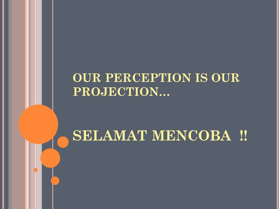 Our perception is our projection…