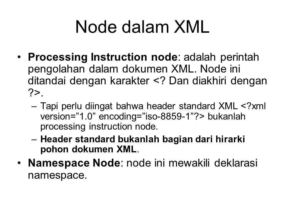 Node dalam XML
