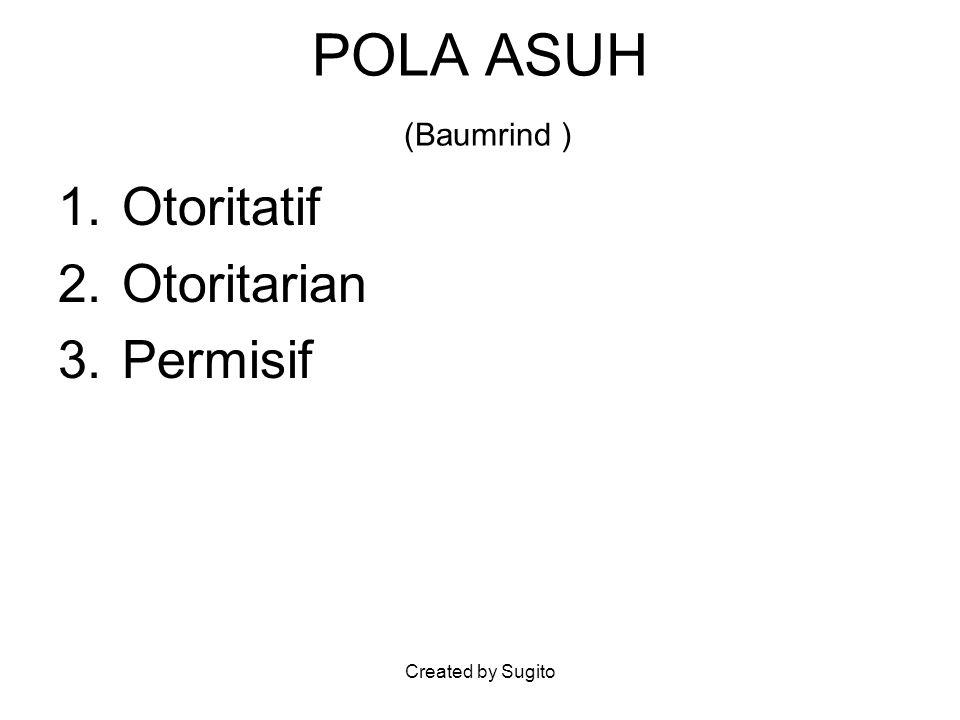 POLA ASUH (Baumrind ) Otoritatif Otoritarian Permisif
