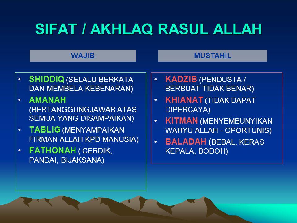 SIFAT / AKHLAQ RASUL ALLAH