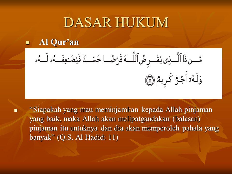 DASAR HUKUM Al Qur'an.