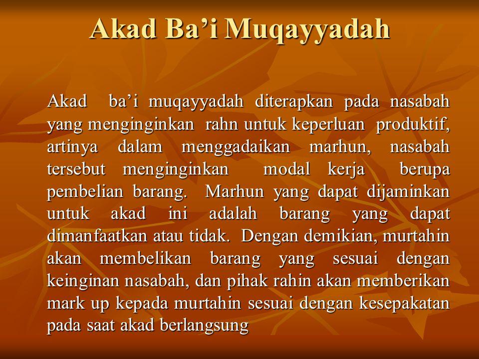 Akad Ba'i Muqayyadah