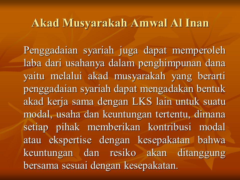 Akad Musyarakah Amwal Al Inan