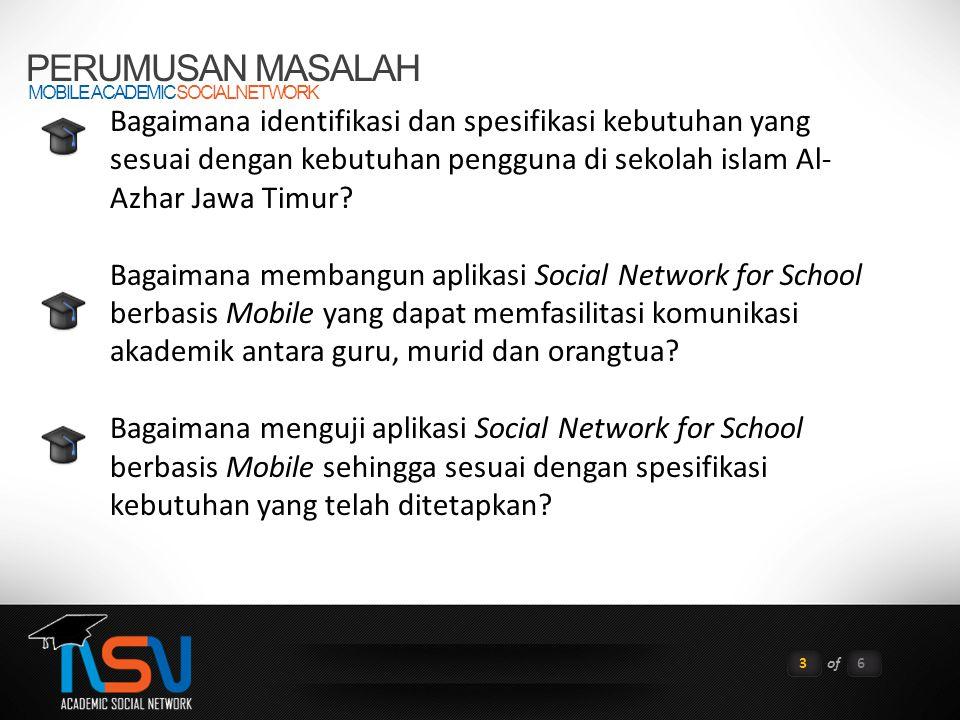 PERUMUSAN MASALAH MOBILE ACADEMIC SOCIAL NETWORK.