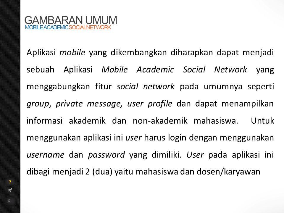 GAMBARAN UMUM MOBILE ACADEMIC SOCIAL NETWORK.