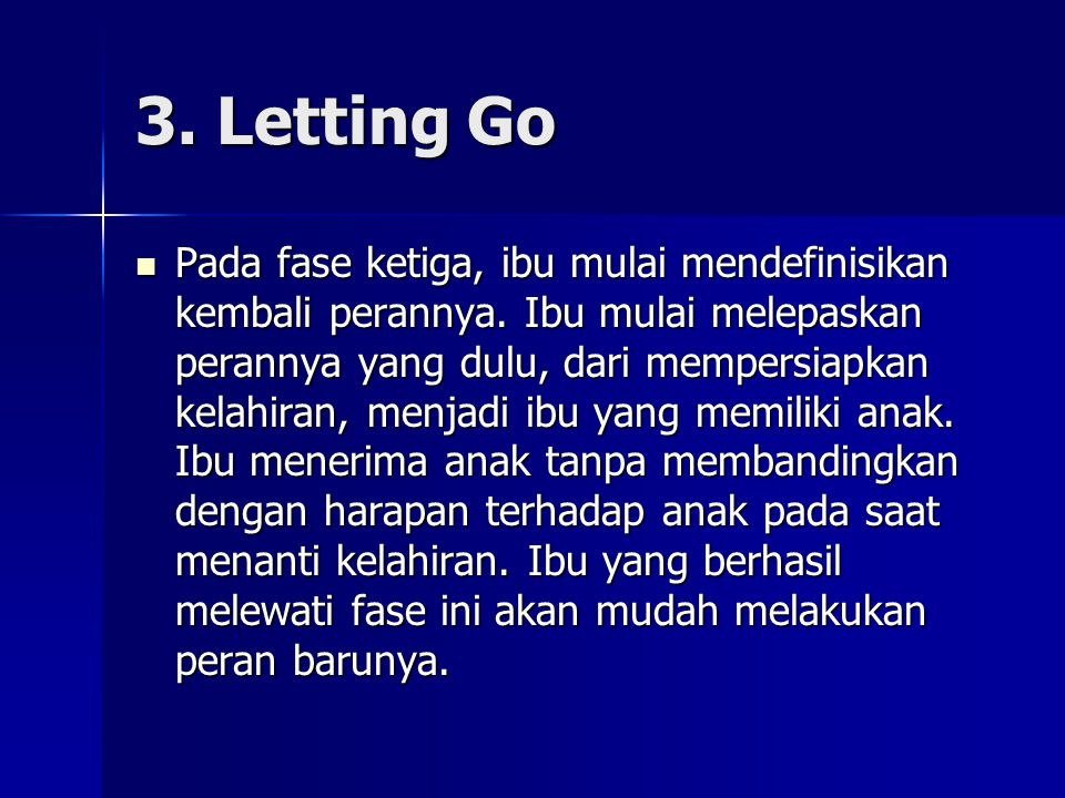 3. Letting Go