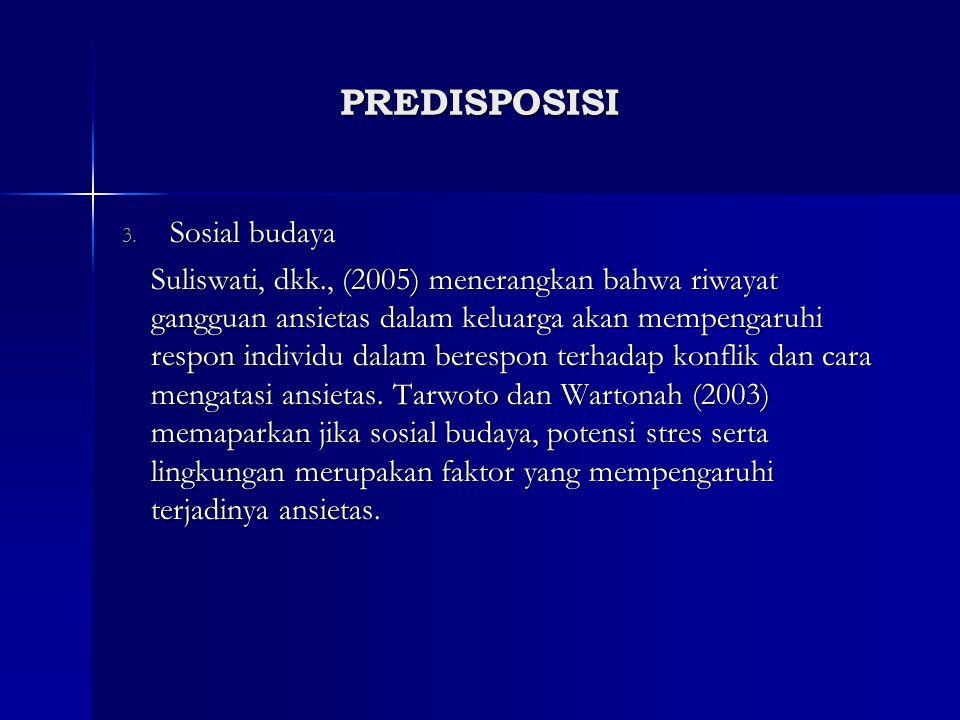 PREDISPOSISI Sosial budaya