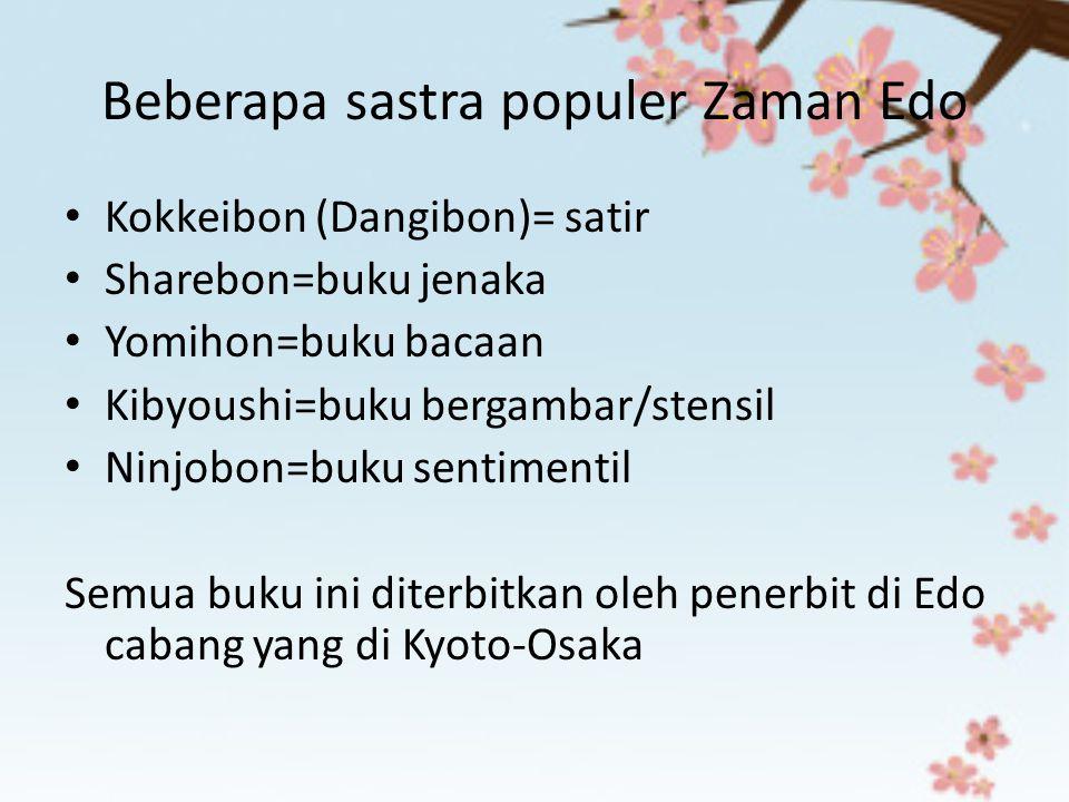 Beberapa sastra populer Zaman Edo