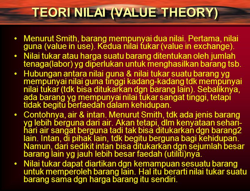 TEORI NILAI (VALUE THEORY)