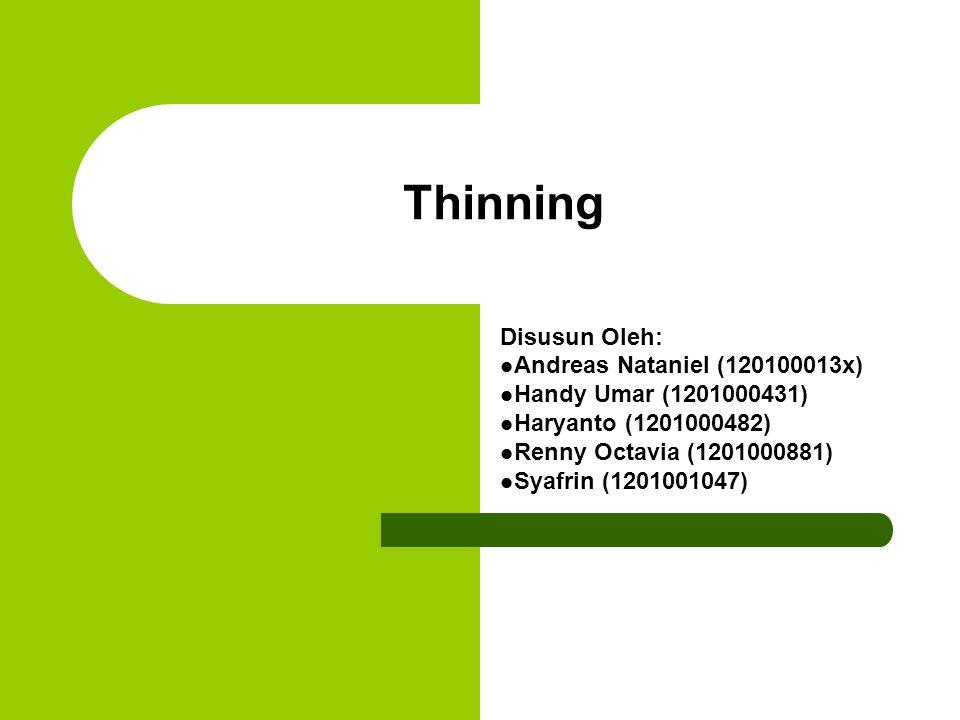 Thinning Disusun Oleh: Andreas Nataniel (120100013x)