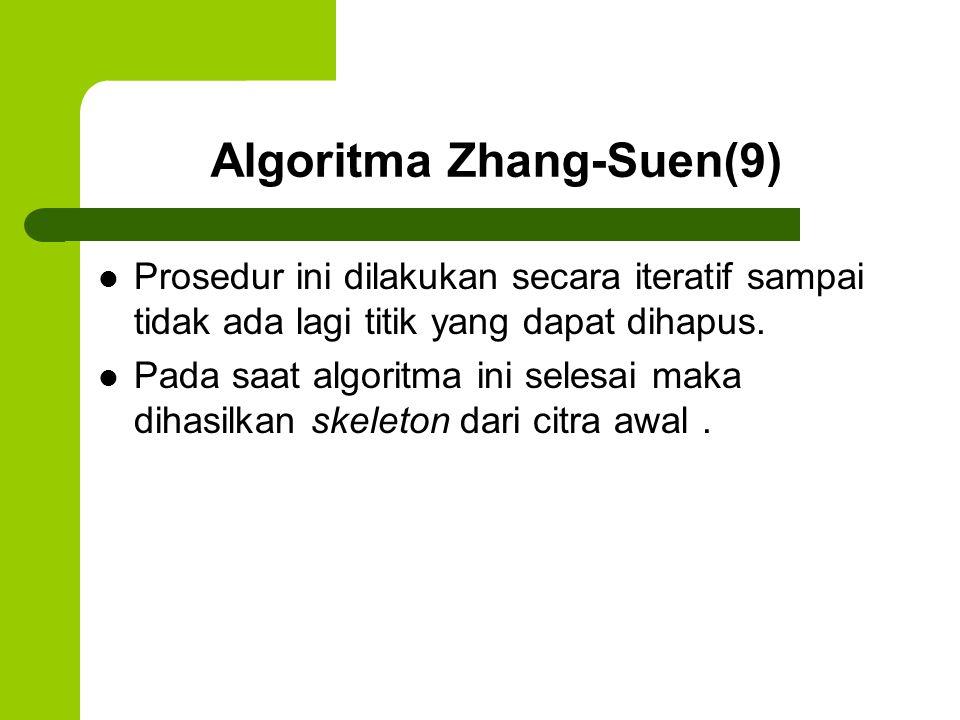 Algoritma Zhang-Suen(9)