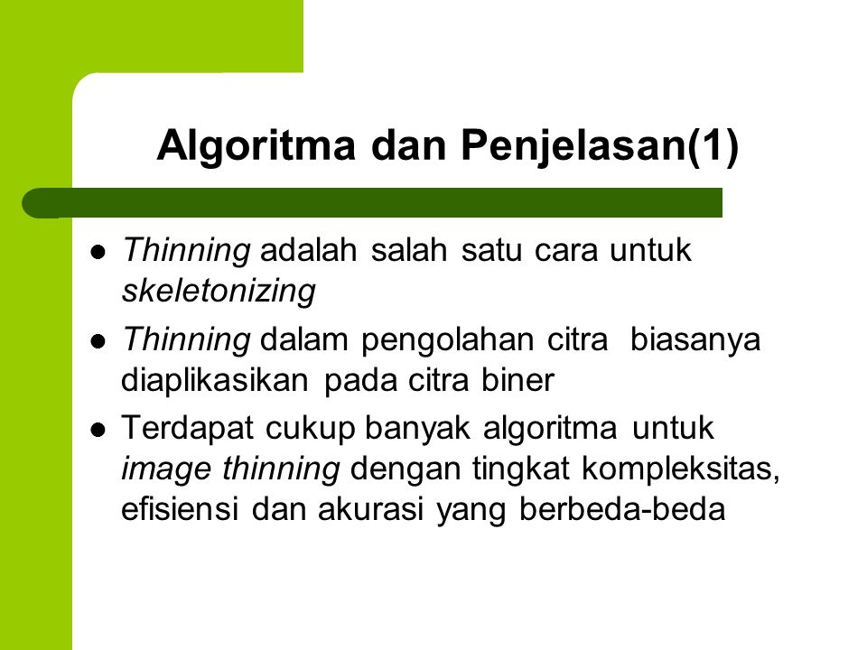 Algoritma dan Penjelasan(1)