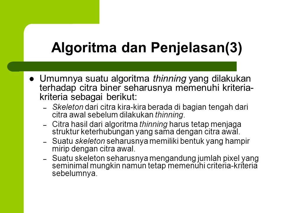 Algoritma dan Penjelasan(3)
