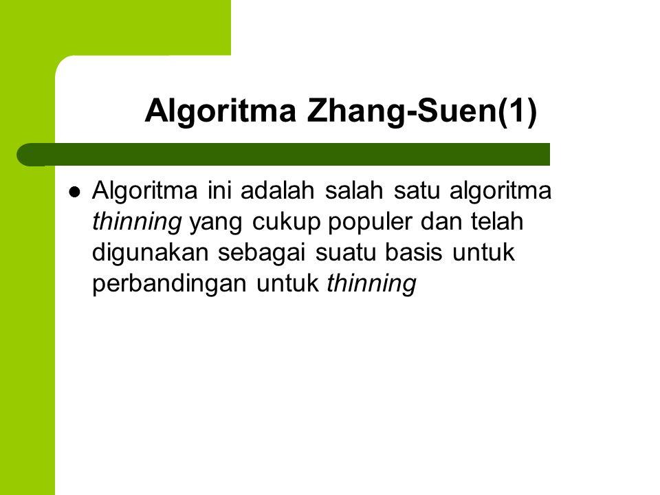 Algoritma Zhang-Suen(1)