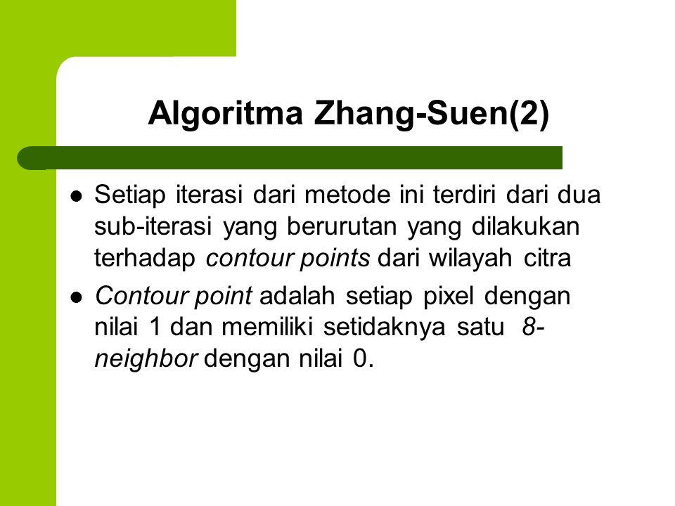 Algoritma Zhang-Suen(2)