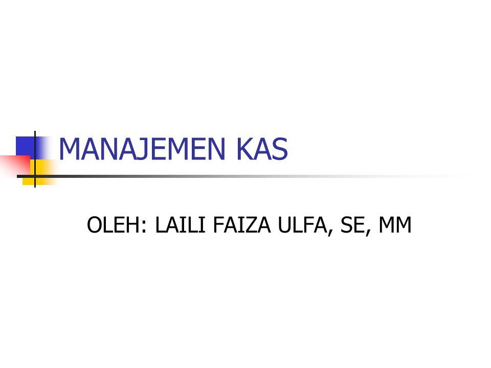 OLEH: LAILI FAIZA ULFA, SE, MM
