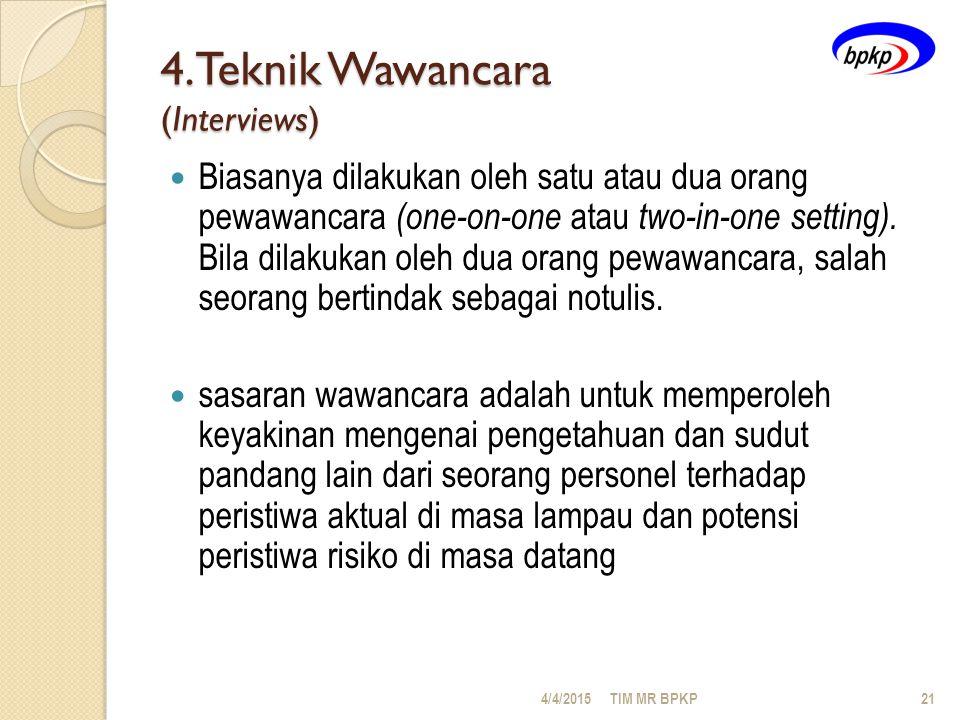 4.Teknik Wawancara (Interviews)