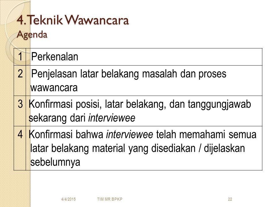4.Teknik Wawancara Agenda
