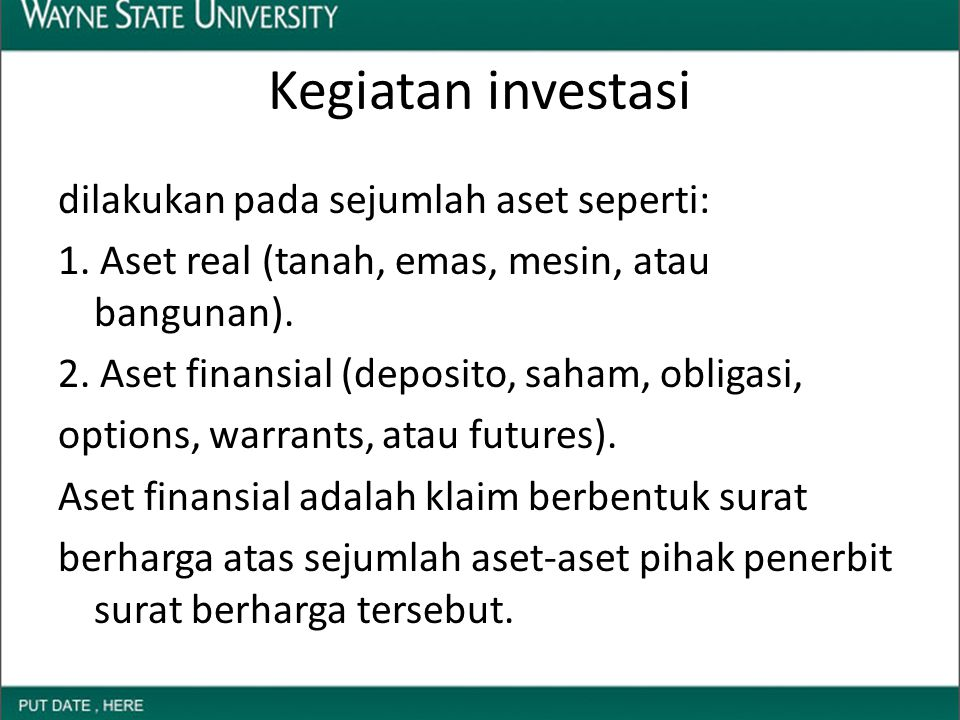 Kegiatan investasi