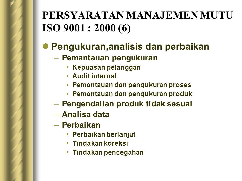 PERSYARATAN MANAJEMEN MUTU ISO 9001 : 2000 (6)