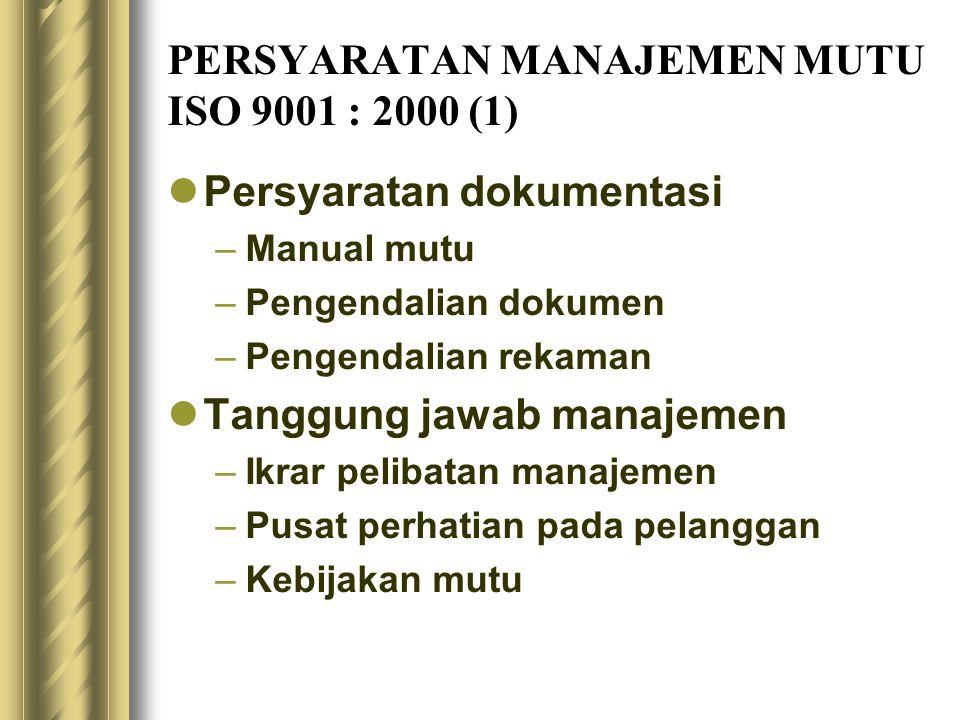 PERSYARATAN MANAJEMEN MUTU ISO 9001 : 2000 (1)
