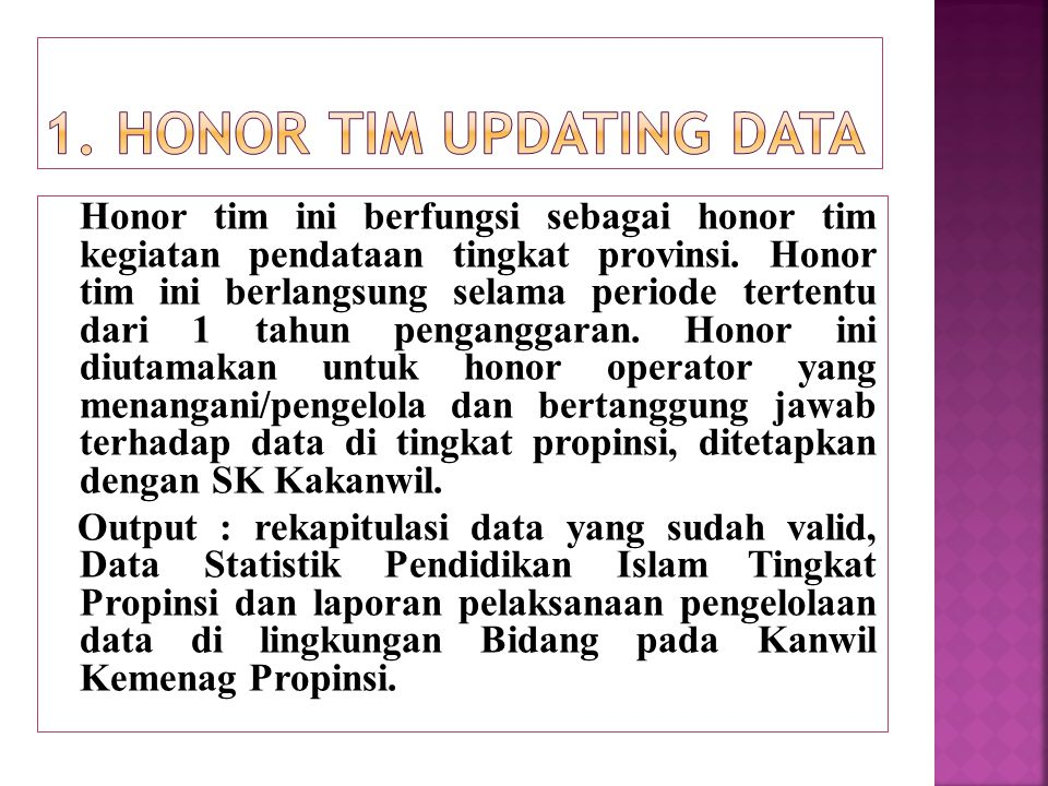 1. Honor Tim Updating data