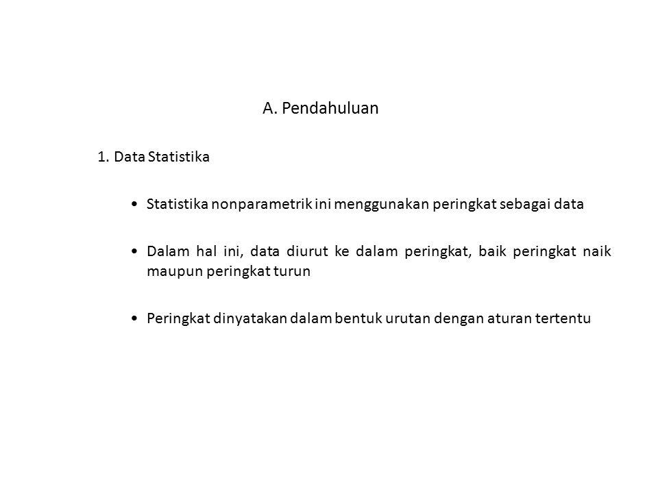 A. Pendahuluan 1. Data Statistika