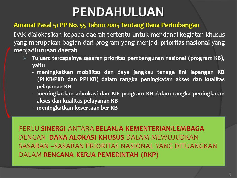 PENDAHULUAN Amanat Pasal 51 PP No. 55 Tahun 2005 Tentang Dana Perimbangan.