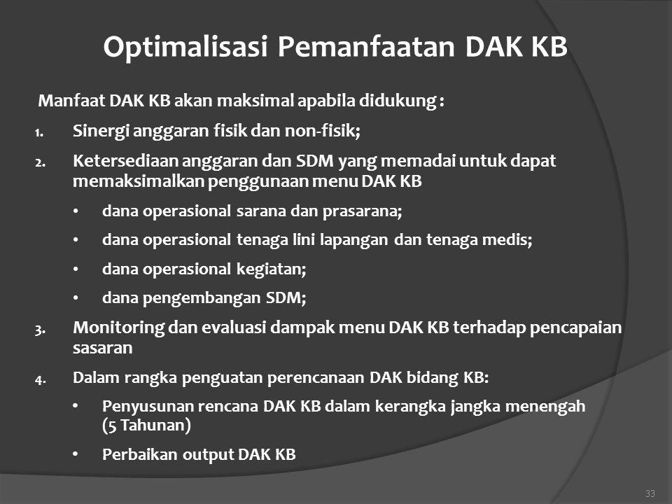 Optimalisasi Pemanfaatan DAK KB