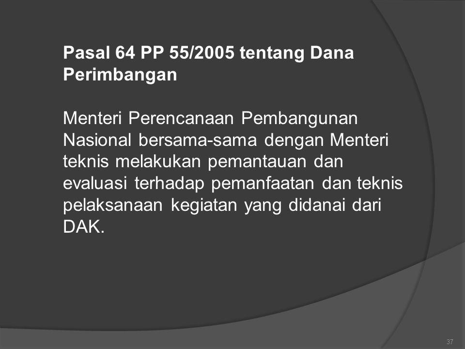 Pasal 64 PP 55/2005 tentang Dana Perimbangan