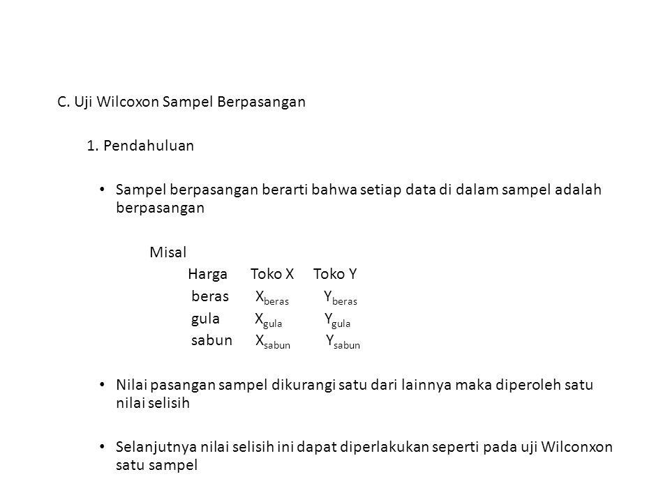 C. Uji Wilcoxon Sampel Berpasangan