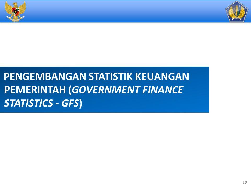 PENGEMBANGAN STATISTIK KEUANGAN PEMERINTAH (GOVERNMENT FINANCE STATISTICS - GFS)