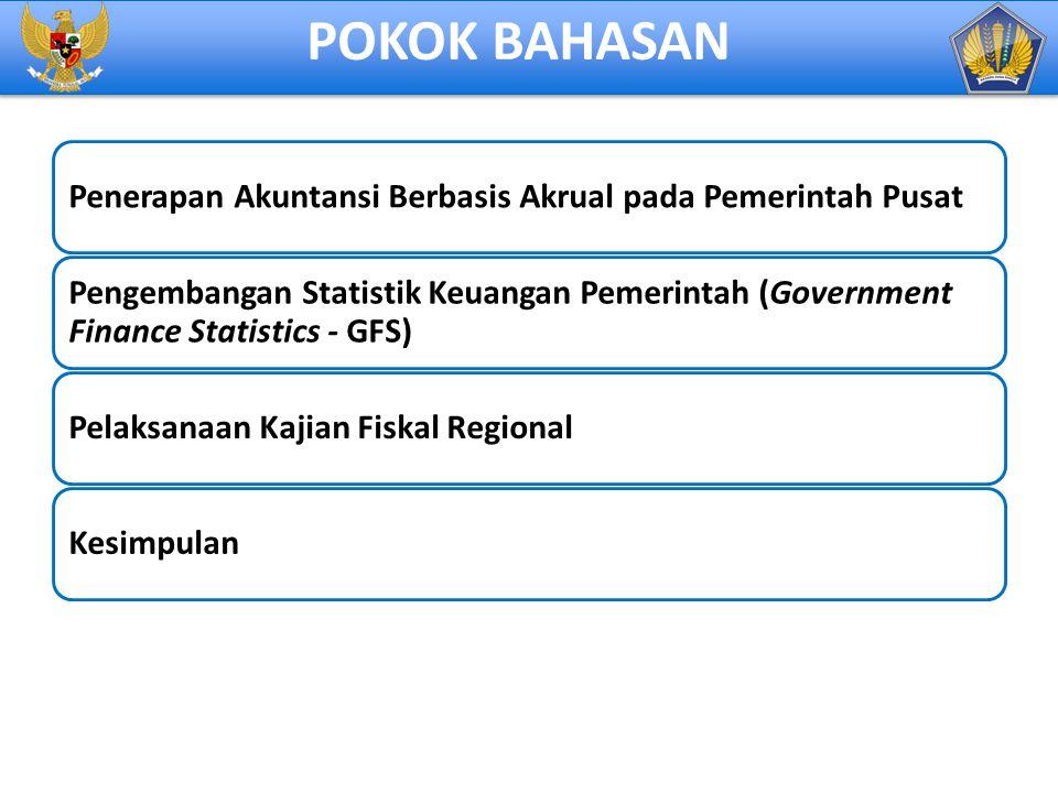 POKOK BAHASAN Penerapan Akuntansi Berbasis Akrual pada Pemerintah Pusat.