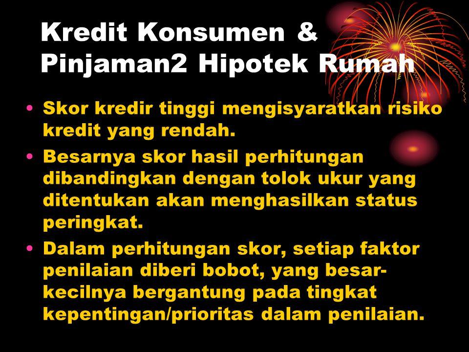 Kredit Konsumen & Pinjaman2 Hipotek Rumah