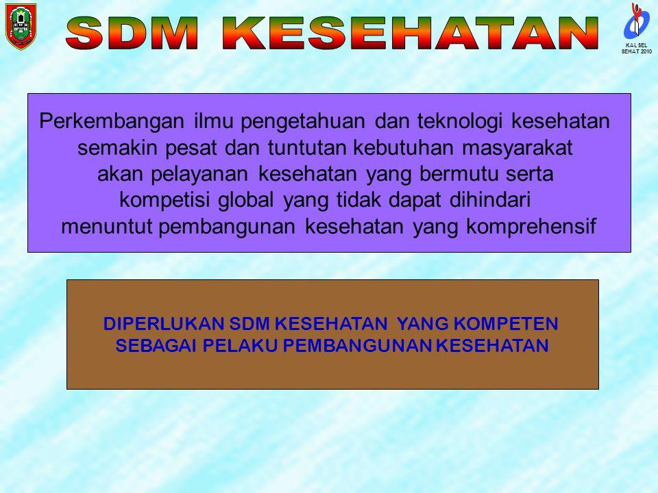 SDM KESEHATAN Perkembangan ilmu pengetahuan dan teknologi kesehatan