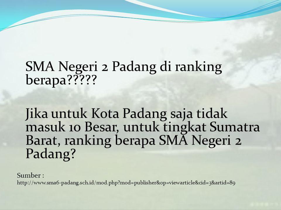 SMA Negeri 2 Padang di ranking berapa