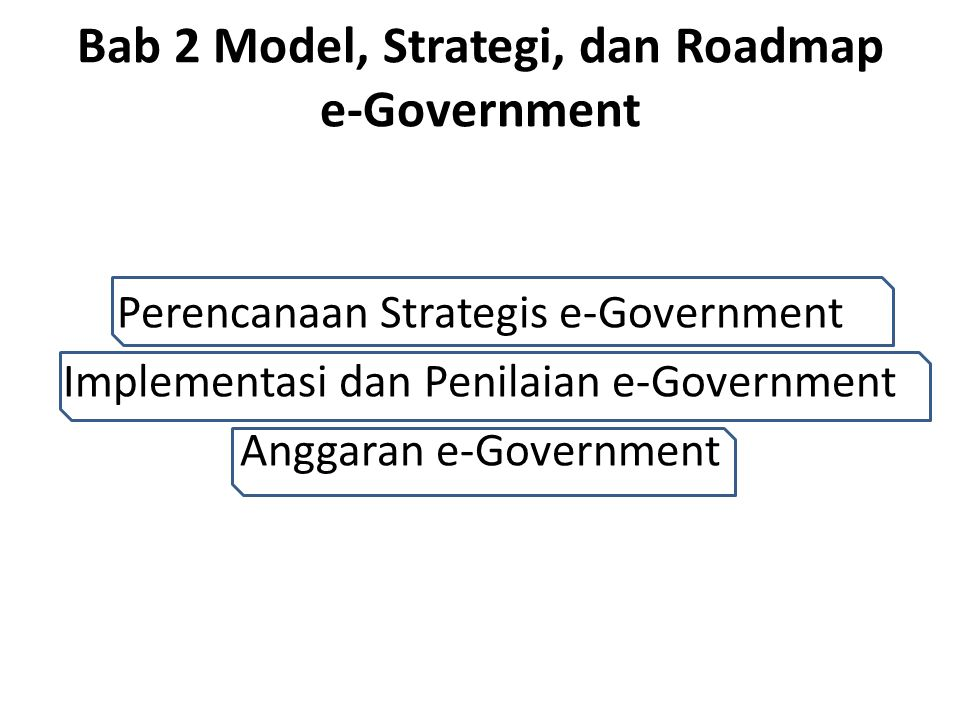 Bab 2 Model, Strategi, dan Roadmap e-Government