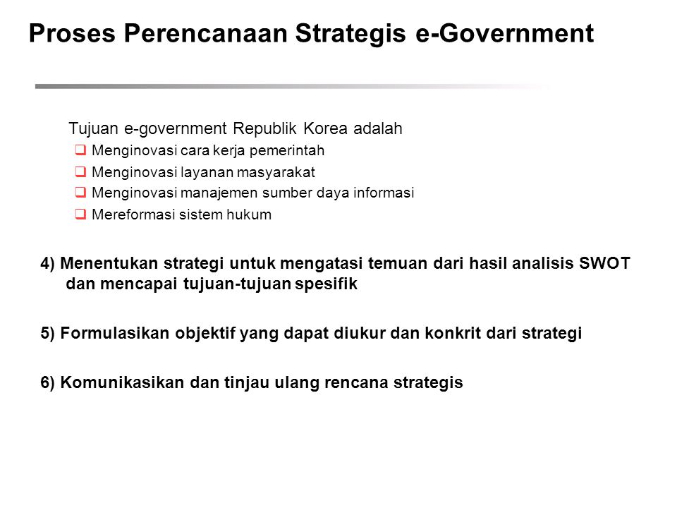 Proses Perencanaan Strategis e-Government
