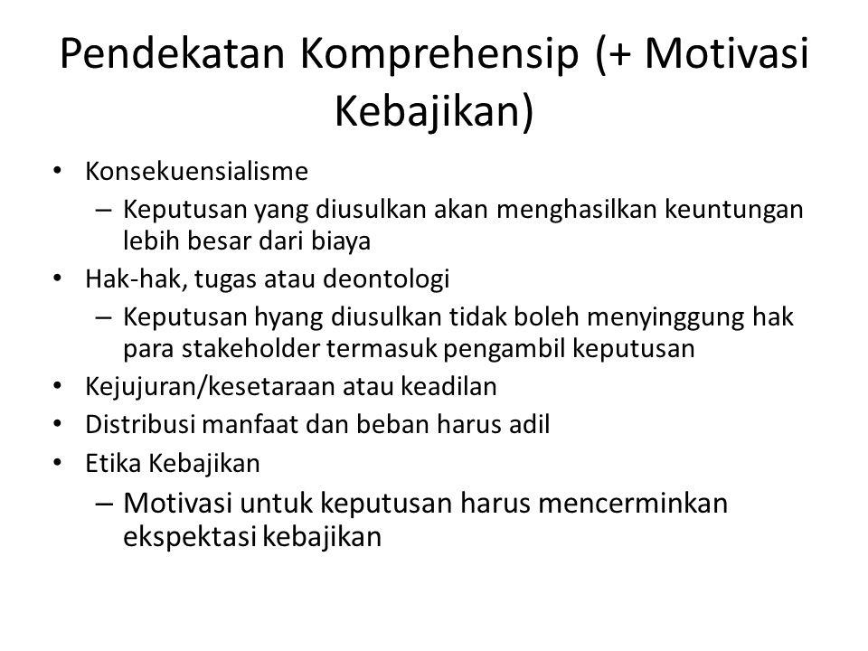 Pendekatan Komprehensip (+ Motivasi Kebajikan)