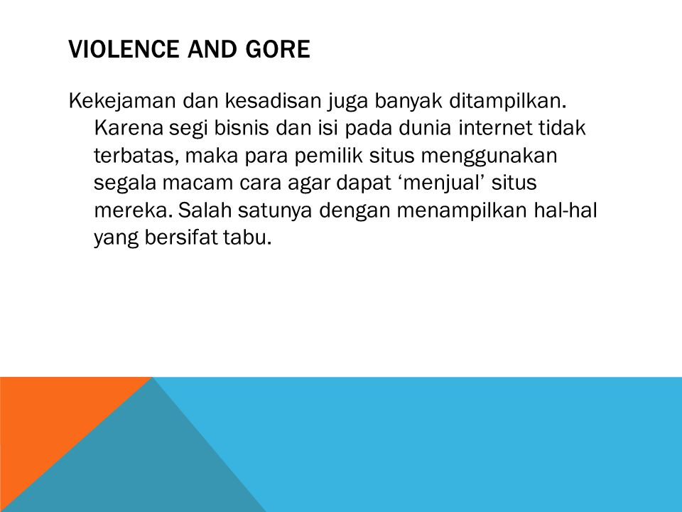 Violence And Gore