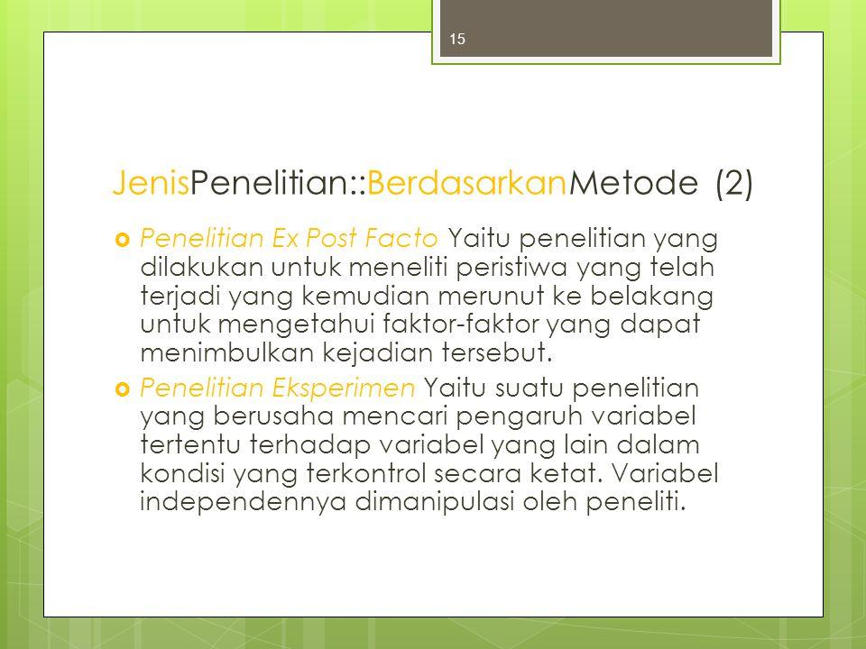 JenisPenelitian::BerdasarkanMetode (2)