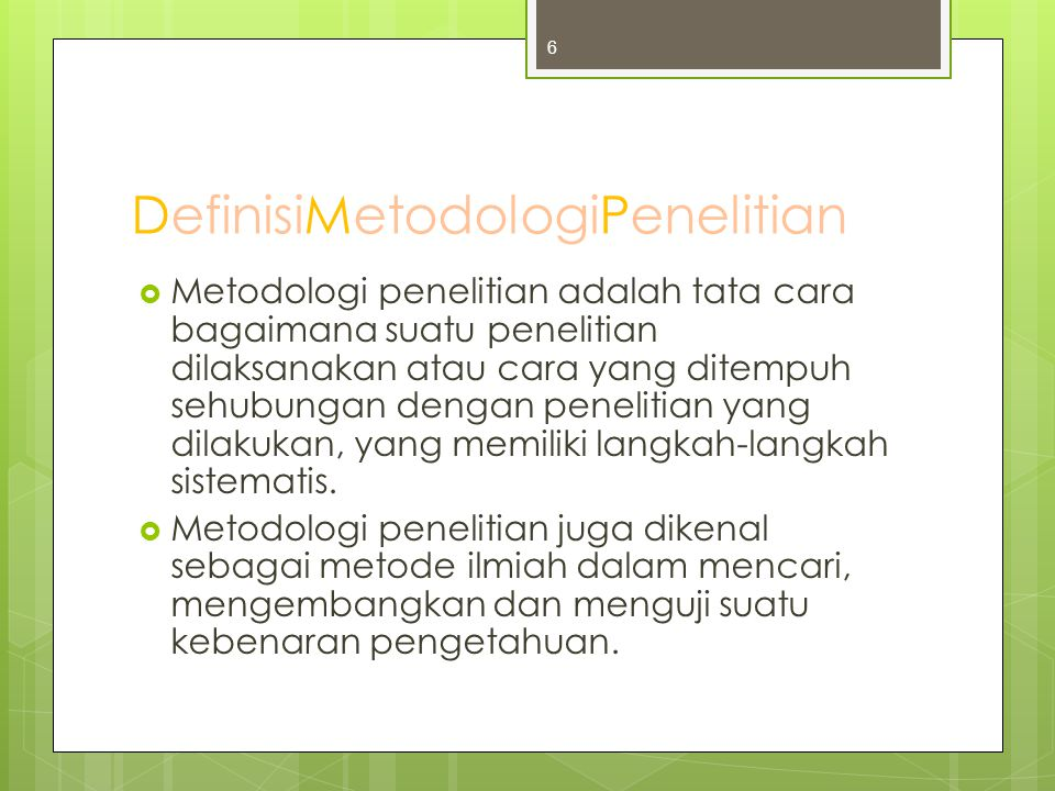 DefinisiMetodologiPenelitian
