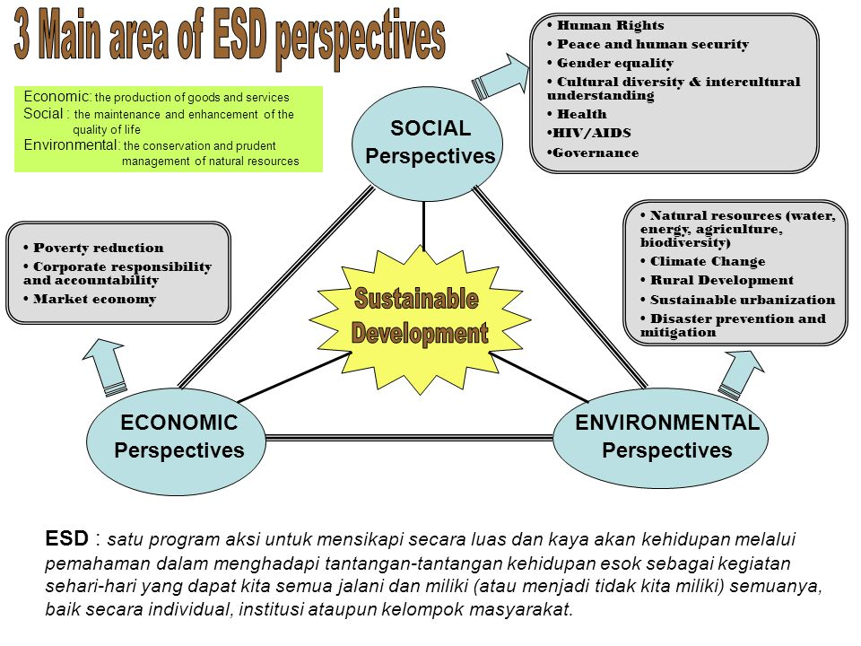 3 Main area of ESD perspectives