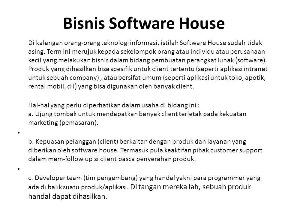 Bisnis Software House
