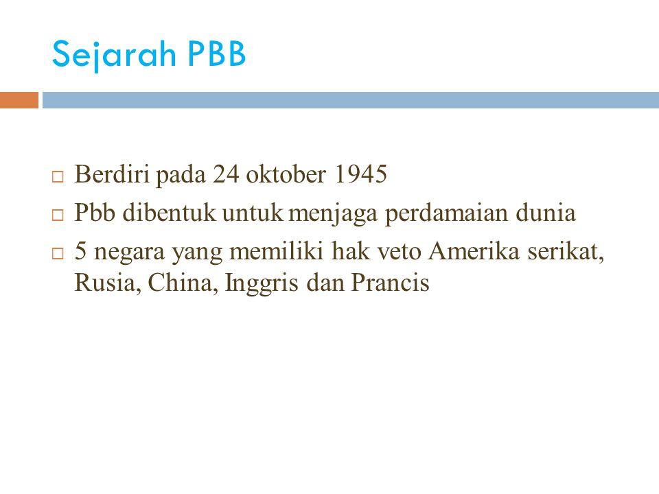 Sejarah PBB Berdiri pada 24 oktober 1945