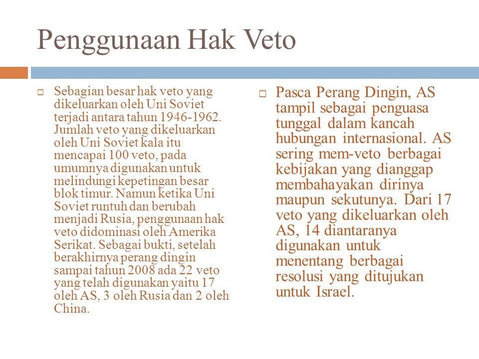 Penggunaan Hak Veto